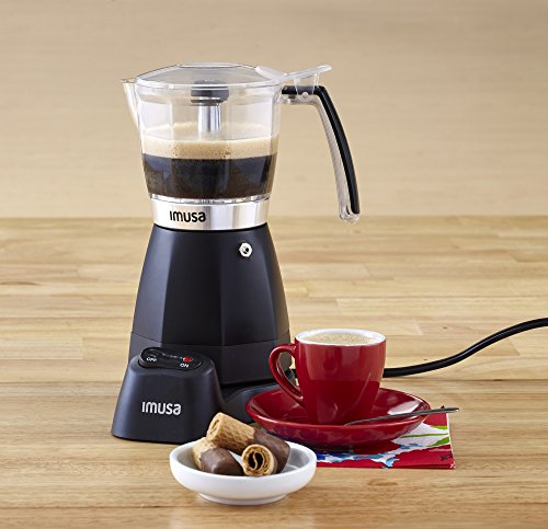 IMUSA USA B120-60006 Electric Coffee/Moka Maker 3-6-Cup, Black