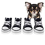 abcGoodefg Pet Dog Shoes Puppy Nonslip Canvas Sport Sneaker Boots Rubber Sole Shoes for Small Pet Dogs, Dark Blue