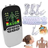 Back Massager, Acupuncture Electric Digital Therapy Neck Back Machine Massage Electronic Pulse Stimulator Body Care,White
