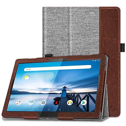 Fintie Hülle kompatibel für Lenovo Tab M10 / P10 - Folio Stoff Schutzhülle mit Standfunktion für Lenovo Tab M10 / P10 (10,1 Zoll) Tablet PC, Denim grau