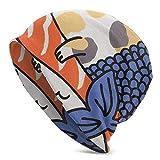 AEMAPE Beanie Hat, Salmon Sushi Cat Winter Beanie Sombreros Unisex Skull Cap