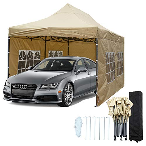 Snail 10'x20' Ez Pop-up Canopy Tent Portable Commercial Instant Party Tent with 4 Removable Walls...
