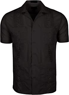 Volcan Men's Short Sleeve Cuban Guayabera Shirts