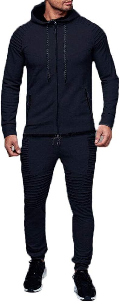Men Tracksuit Set Hoodie Tops Pants Sweatpants Joggers Jogging Casual Sportswear