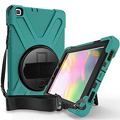 ProCase Galaxy Tab A 8.0 2019 Case T290 T295, Rugged Heavy Duty Shockproof Rotating Kickstand Protective Cover