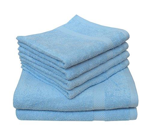 Dyckhoff Serviette de bain coton bio, bleu, Handtuch 50 x 100 cm