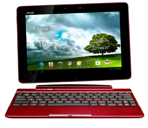 Asus Transformer Pad TF300T 25,7 cm (10,1 Zoll) Convertible Tablet-PC (NVIDIA Tegra 3, 1,3GHz, 1GB RAM, 32GB eMMC, Touchscreen, Android 4.0) inkl. KeyDock rot