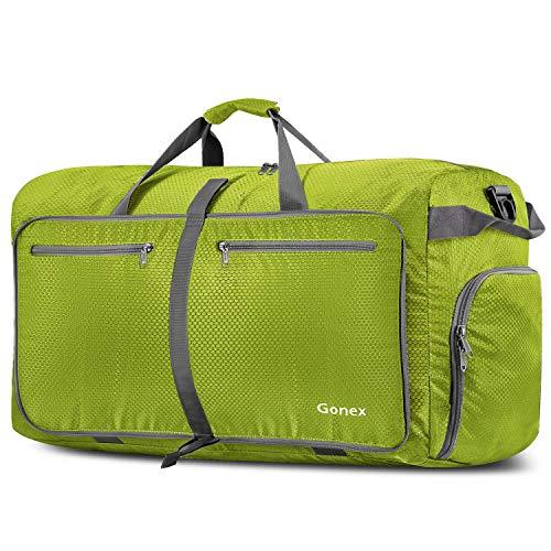 Gonex Bolsa de Viaje 100L, Plegable Ligero Bolso Equipaje Maleta Grande Bolsas Deportes Gimnasio Maletas de Mano Impermeable Duffel Travel Bag para Hombres y Mujeres Fin de Semana (Verde Claro)