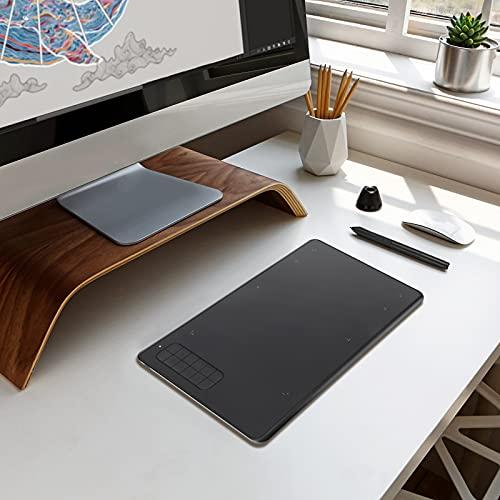 Tableta gráfica de firma digital, LaSoGi 240 x 155 mm profesional Pen Tablet con 12 teclas Express de panel sin batería, soporte 10.7 Lion o superior/OTG (pequeño)