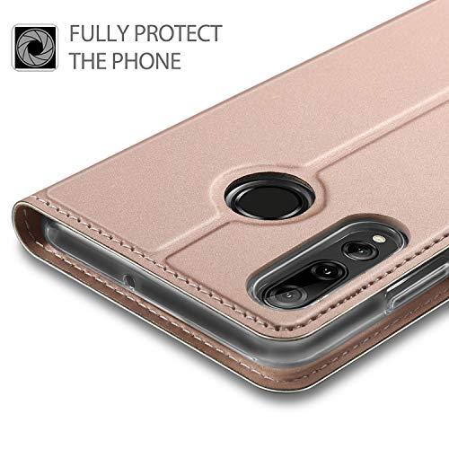 GEEMAI für Huawei P Smart Plus 2019 Hülle, für Honor 20 Lite Hülle, handyhüllen Flip Hülle Wallet Stylish mit Standfunktion und Magnetisch PU Schutzhülle passt für Huawei P Smart+ 2019 Phone, Rosegold - 3