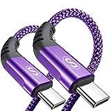 USB Type C ケーブル 【2M/2本セット】Sweguard USBC ケーブル3A急速充電ケーブル 三重編組ナイロン Samsung Galaxy S20/S10/ S9 /S8 + / S8/A3/A7/A9/C5/7pro/C9、Huawei P30 / P20 / P10、Google Pixel、Sony Xperia XZ、OnePlus対応 (パープル)