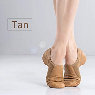LQHYA Jazz Dance Shoes Tan Black Antiskid Sole Jazz Shoes Adults Dance Sneakers For Girls Women,