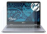 Bruni Schutzfolie kompatibel mit Asus VivoBook Flip 14 TP410UA Folie, glasklare Bildschirmschutzfolie (2X)
