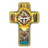 Diseño de cruz incluye certificado de confirmación pintada a mano - incluye bolsa de regalos