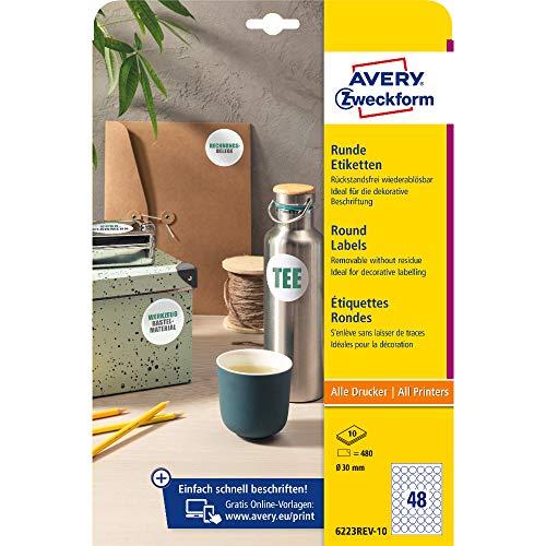 Etiquetas Adhesivas A4 10 Marca AVERY Zweckform