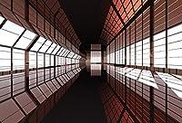 leyiyi 6x 4ft Photography Backgroud 3d MysteriousトンネルBackdrop SubwayトラックUndergroundパスエアーポットTrain Stration Underwater Brt Passage Glasses Sunset SunshineフォトPortraitビニールStudio Prop