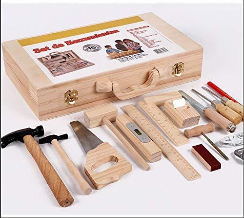 16 Stück Kinder Echt Tischler Werkzeug...