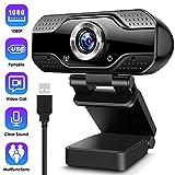 ARCBLD Video Calling Recording Conferencing Live Class Webcam,1080P Full HD Webcam USB Desktop &...