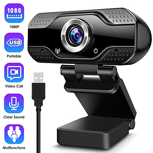 ARCBLD Video Calling Recording Conferencing Live Class Webcam,1080P Full HD Webcam USB Desktop & Laptop Webcam Live Streaming Webcam with Microphone Widescreen HD Video Webcam