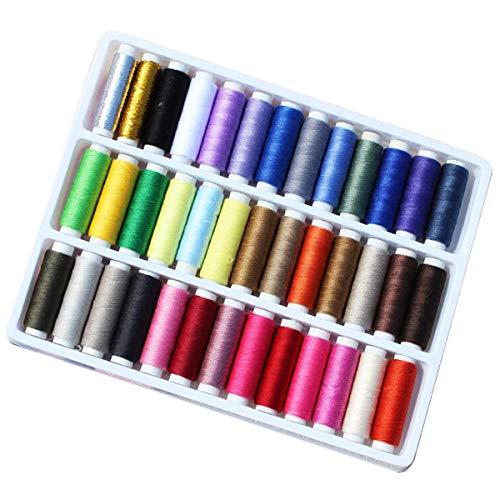 RYTECH Hilos de Coser, Hilo Fuerte para Coser a Mano en máquinas de Coser, Mucho Color Ideal para Acolchar Coser a Mano Coser 39 packs