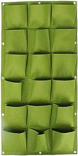 Wall Hanging Planting Bags 18 Pockets Green Grow Bag Planter Vertical Garden Vegetable Living Garden Bag Home Supplies Lar...