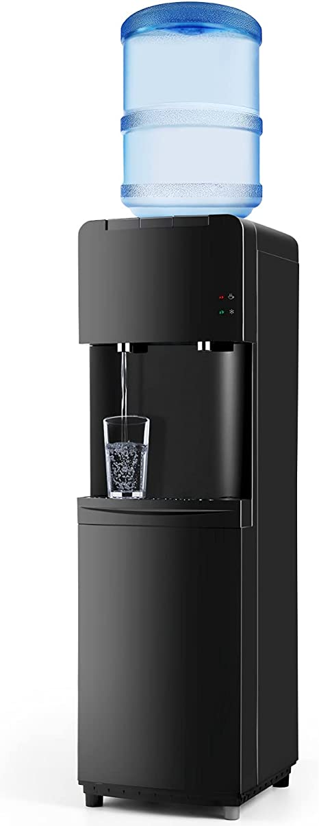 Amazon Com Water Coolers 5 Gallon Top Load Hot Cold Water Cooler Dispenser Innovative Slim Design Energy Saving Freestanding With Child Safety Lock For Home Or Office Black Kitchen Dining