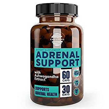 Adrenal Support Cortisol Manager & Natural Anxiety Supplements for Natural Energy Focus Brain Fog Fatigue and Memory │ Natural Energy Pills with Ashwagandha Rhodiola Rosea & Adaptogens