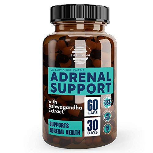Adrenal Support Cortisol Manager & Natural Anxiety Supplements for Natural Energy, Focus, Brain Fog, Fatigue and Memory │ Non-GMO Energy Pills with Ashwagandha, Rodiola Rosea & Adaptogens