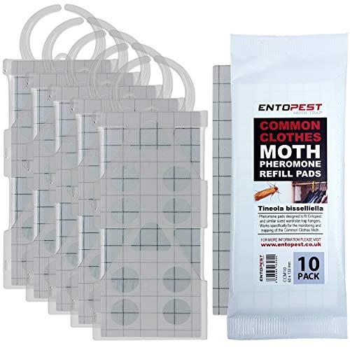 Entopest 5 x Common Clothes Moth Traps & 10 Pheromone Pad Kit