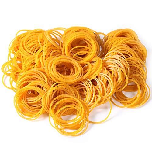 500 Stücke Gelb Gummibänder Gummiringe Große Gemischte Elastische Gummibänder Dehnbare Bänder Mülleimer Bänder für Haushalt, Arbeit, Büro