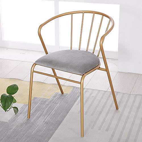 Silla de comedor moderna de hierro forjado de oro de la silla de salón del café de la silla de comedor y de la silla de oro