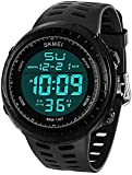 LYMFHCH Men's Digital Sports Watch LED Screen Large Face Military Watches for Men Waterproof Casual Luminous Stopwatch Alarm Simple Army Watch