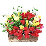 Tvvudwxx 1 Stücke Puppenhaus Blumen Pflanze Miniatur Landschaft Garten Deko Tischdekoration 1:12...