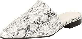 Cambridge Select Women's Pointed Toe Slip-On Low Block Heel Mule