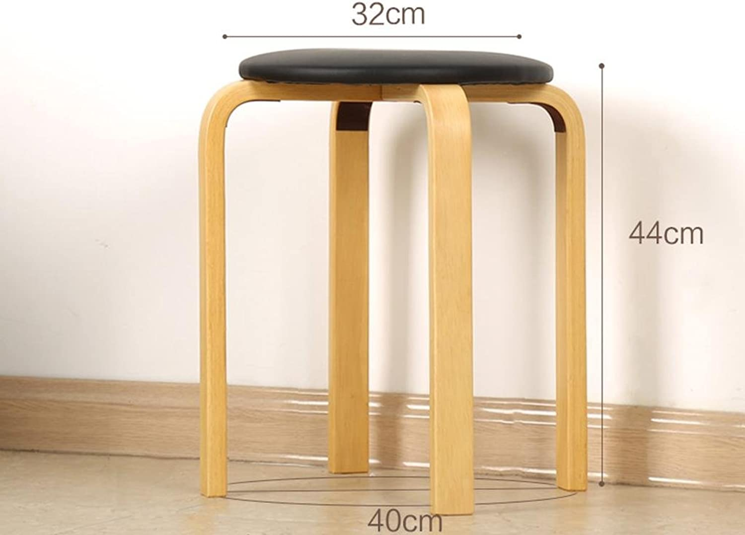 Bar stool,GZD Modern kitchen stools with metal legs High Stool Bar Stools Soft seats and Wooden Seat Breakfast Bar, height 45cm for Kitchen Counter Bar , 8