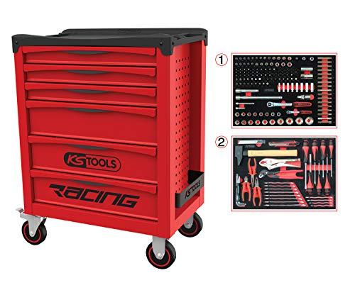 KS Tools 855.6184 855.6184-Servante Racing 6 tiroirs équipée de 184 Outils