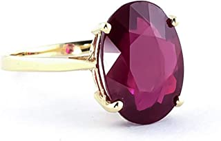 Galaxy Gold 7.5 Carat 14k Solid Gold Ring with Natural Oval-Shaped Ruby