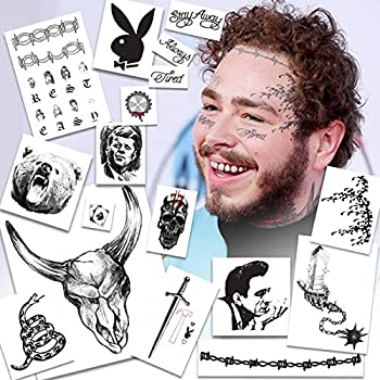 Celebrity Temporary Tattoos -UPDATED 2020- to include Skull Flail Circular Saw & Hammer | HAND & FACE TATTOOS | Skin Safe | MADE IN THE USA| Removable