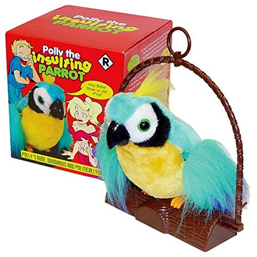 Unbranded Motion Activated Offensive Polly The Insulting Parrot Bird B bog Cursing Parrot