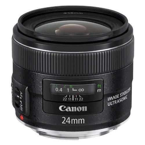 Canon Objektiv EF 24mm F2.8 IS USM Weitwinkel für EOS (Festbrennweite, 58mm Filtergewinde, Bildstabilisator, Autofokus) schwarz
