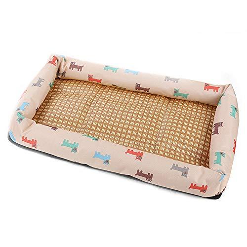 Djflight zomerbed voor honden en katten, wasbaar, voor slaap, gezellig, zacht, duurzaam, mand Prima Cool Doghouse Grote, middelgrote en kleine honden.