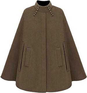 maweisong 女性秋暖かいルーズピーコートクロークトレンチコートアウターウェアオーバーコート