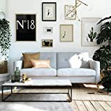 Mr. Kate Tess Sofa with Soft Pocket Coil Cushions, Small Space Living Room Furniture, Light Gray Linen