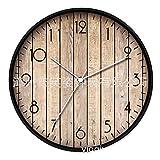 YYXDP Moderne Wanduhr Wohnzimmer 15 Zoll Wanduhr Kreative Holzmaserung Uhr Stumm Mode Uhr