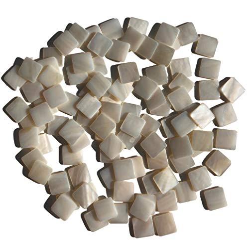 Rhinestone Paradise Piedras de mosaico de nácar, 100 unidades, mosaicos de nácar, para trabajos de decoración, placas de conchas, mosaico