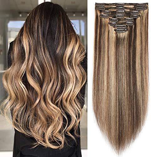comprar pelucas pelo liso largo color castaño online