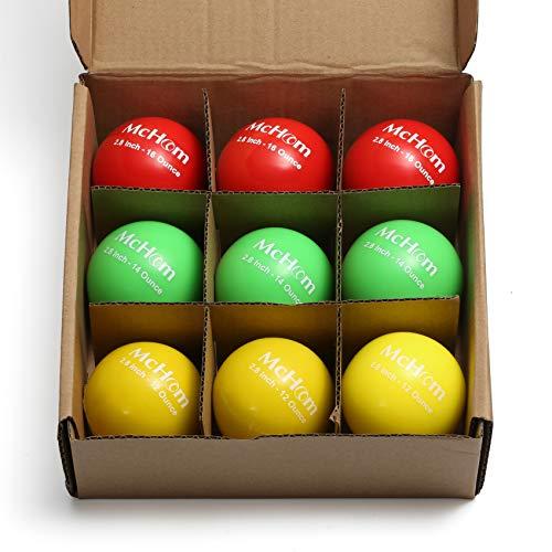 McHom 3.2'' Weighted Balls Set, 9pcs