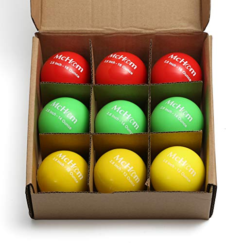 McHom 2.8in Weighted Baseball Training Balls for Hitting, Batting or Pitching Practice | 9-Pack | Weights Include 12, 14 and 16 oz