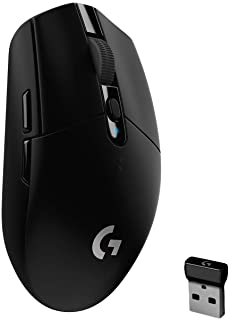 Logitech G305 Lightspeed Ratón Gaming Inalámbrico, Captor Hero 12,000 dpi, Ultra-Ligero, Batería de 250h, Memoría Integrada, Compatible con PC/Mac , Negro