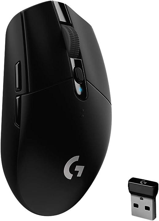 Mouse gaming logitech g305 lightspeed wireless, sensore 12k hero, 12.000 dpi 910-005283